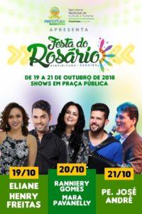 Em Pirpirituba, Eliane e Henry Freitas se apresentam na abertura da Festa do Rosário